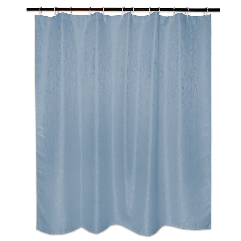 Stone Blue Bamboo Shower Curtain