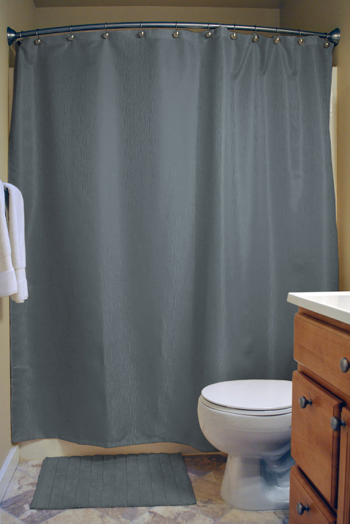DII Stone Blue Bamboo Shower Curtain
