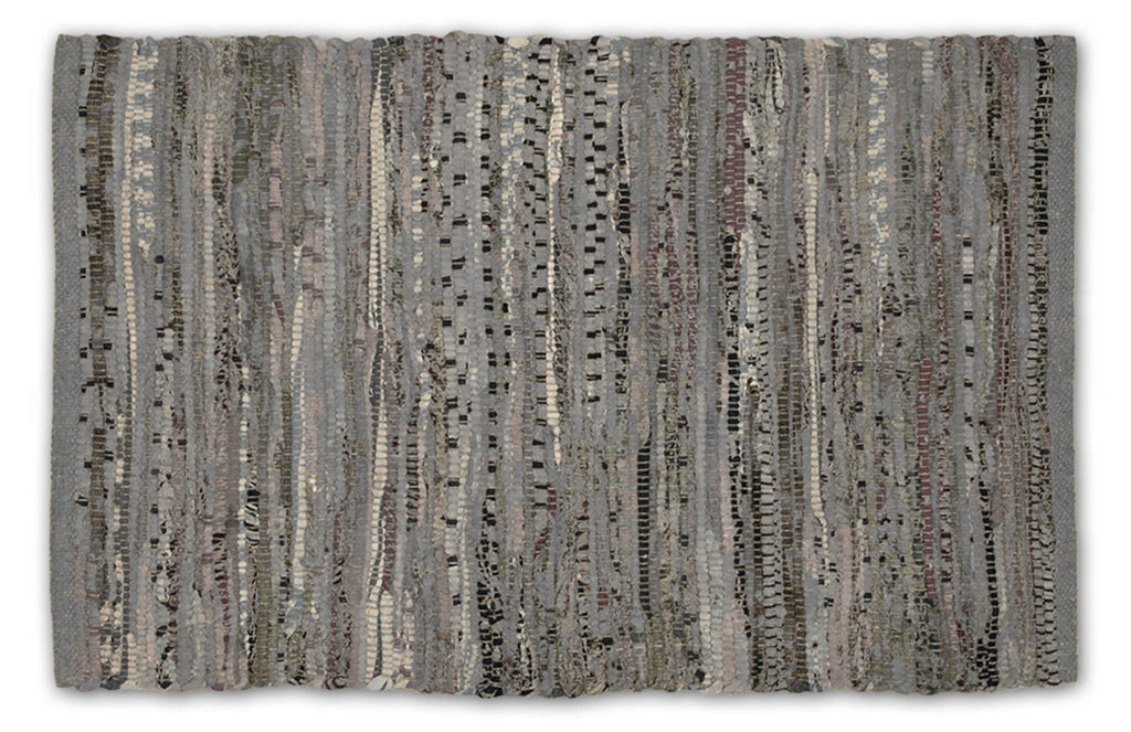 Multi Gray Rag Rug 4x6 Ft
