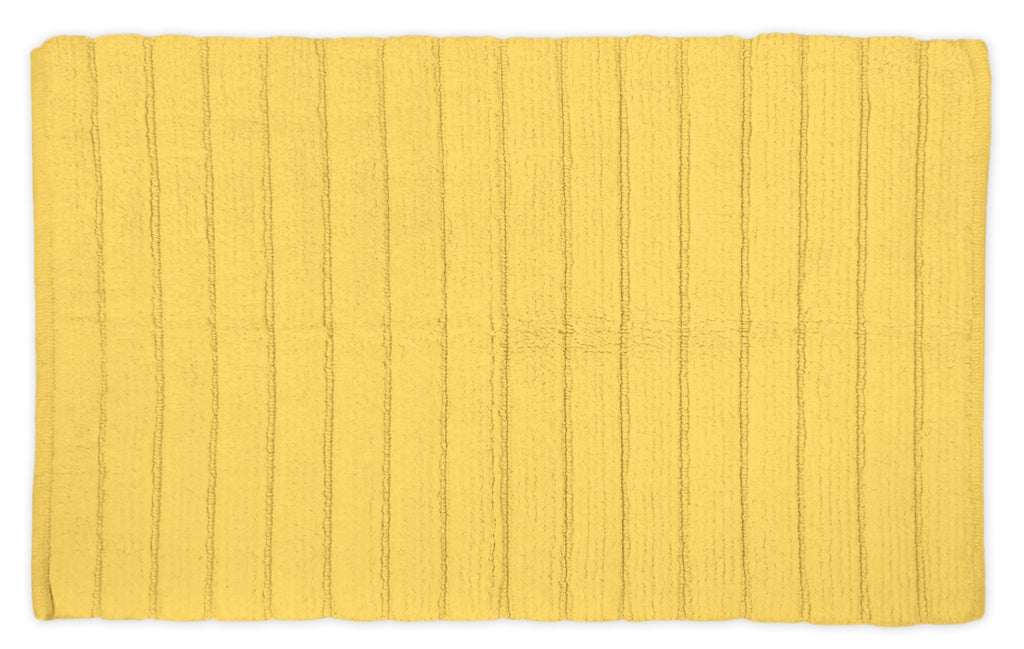 Yellow Ribbed Rug 17x24