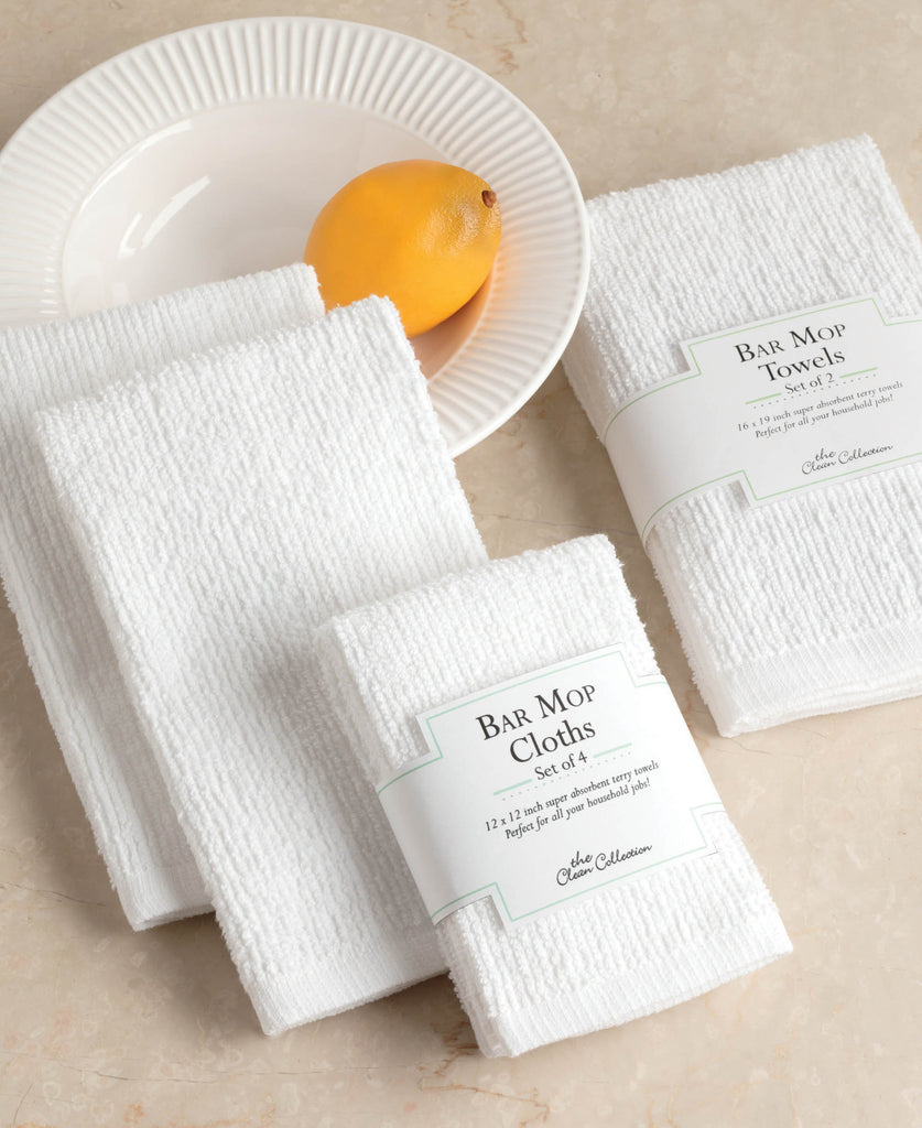 DII White Barmop Dishtowel (Set of 4)
