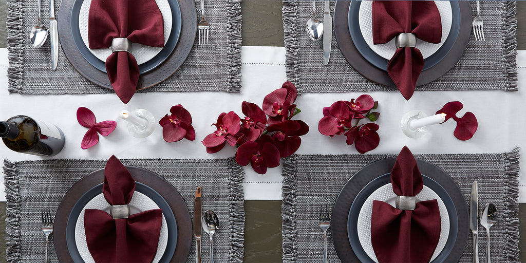 DII Variegated Gray Fringe Placemat (Set of 6)