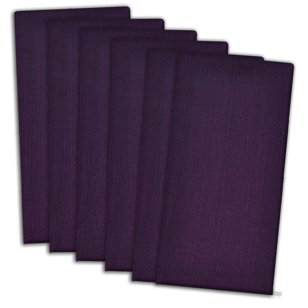 Variegated Eggplant Napkin Set/6
