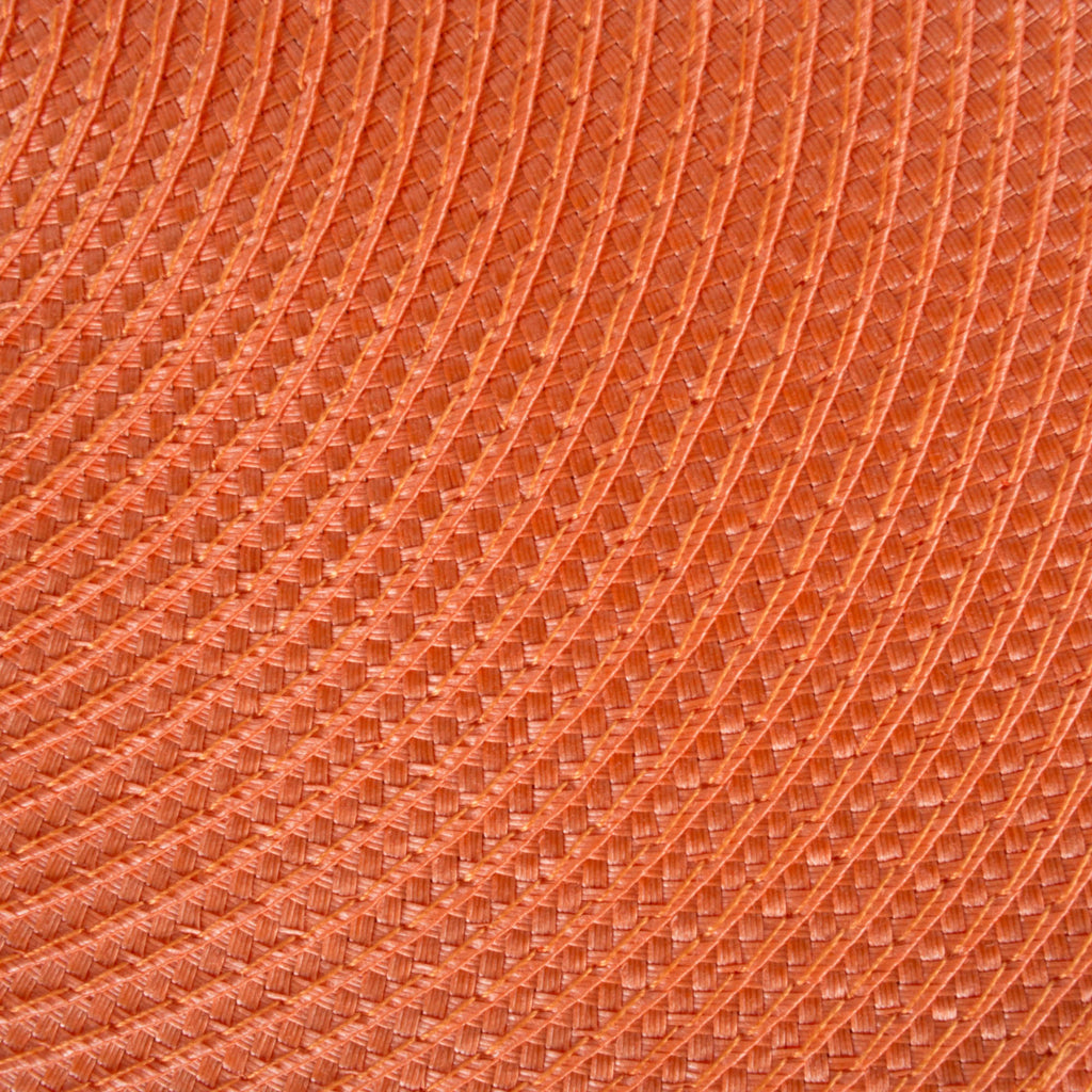 DII Orange Round Polypropylene Woven Placemat (Set of 6)
