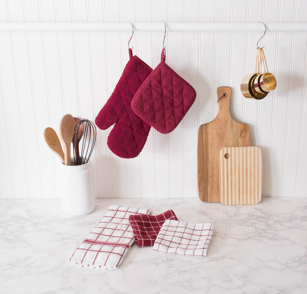 DII Wine Combo Windowpane Dishcloth (Set of 6)
