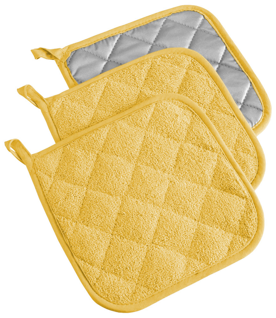 Yellow Terry Potholder Set/3