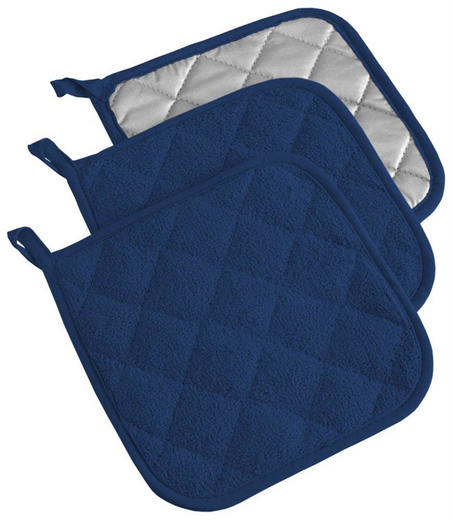 Nautical Blue Terry Potholder Set/3