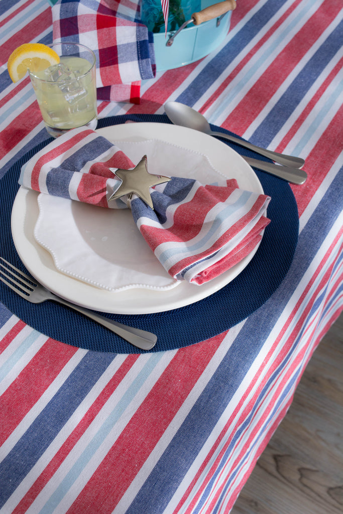 DII Tablecloth Patriotic Stripe, 60x84""