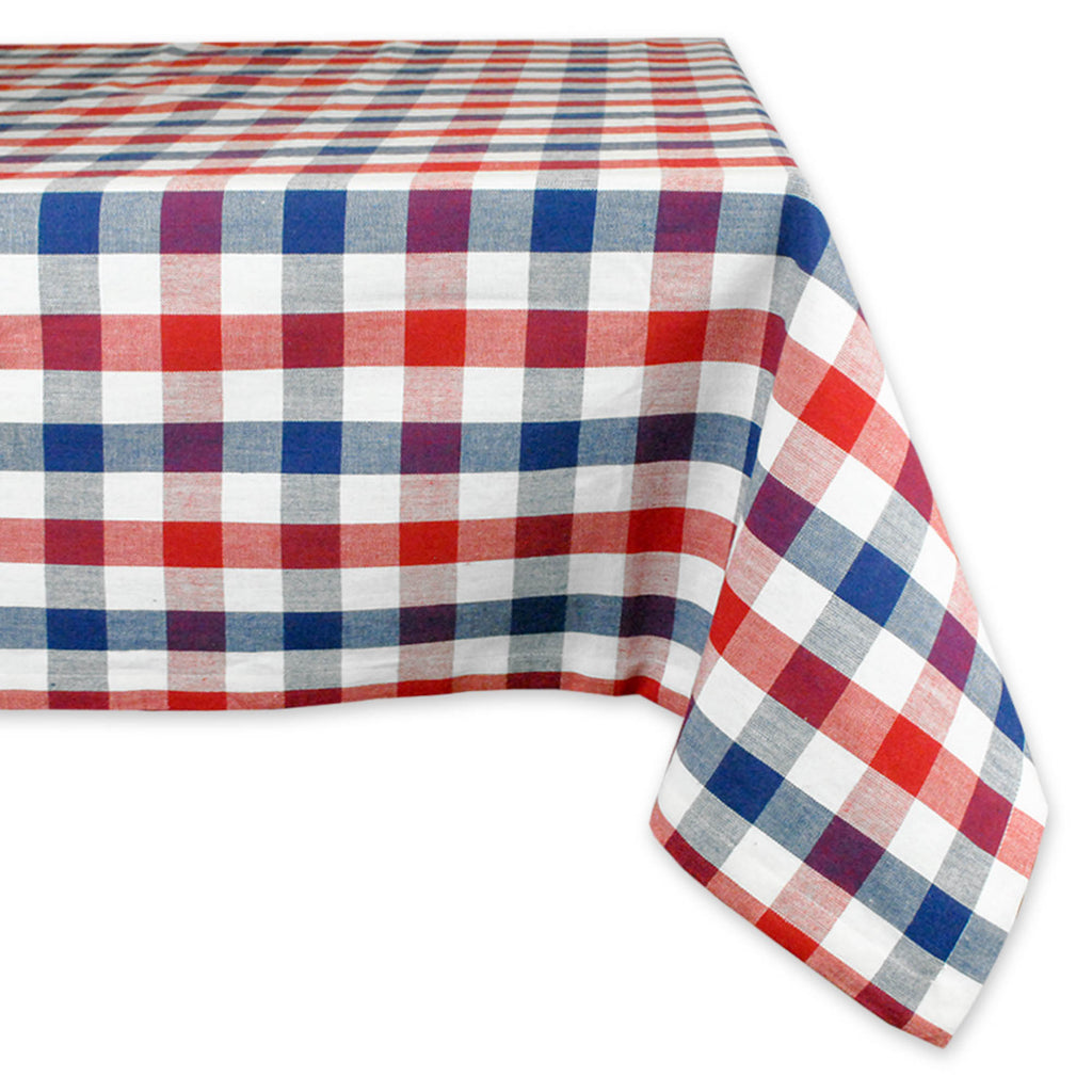 Red, White & Blue Check Tablecloth 60x84