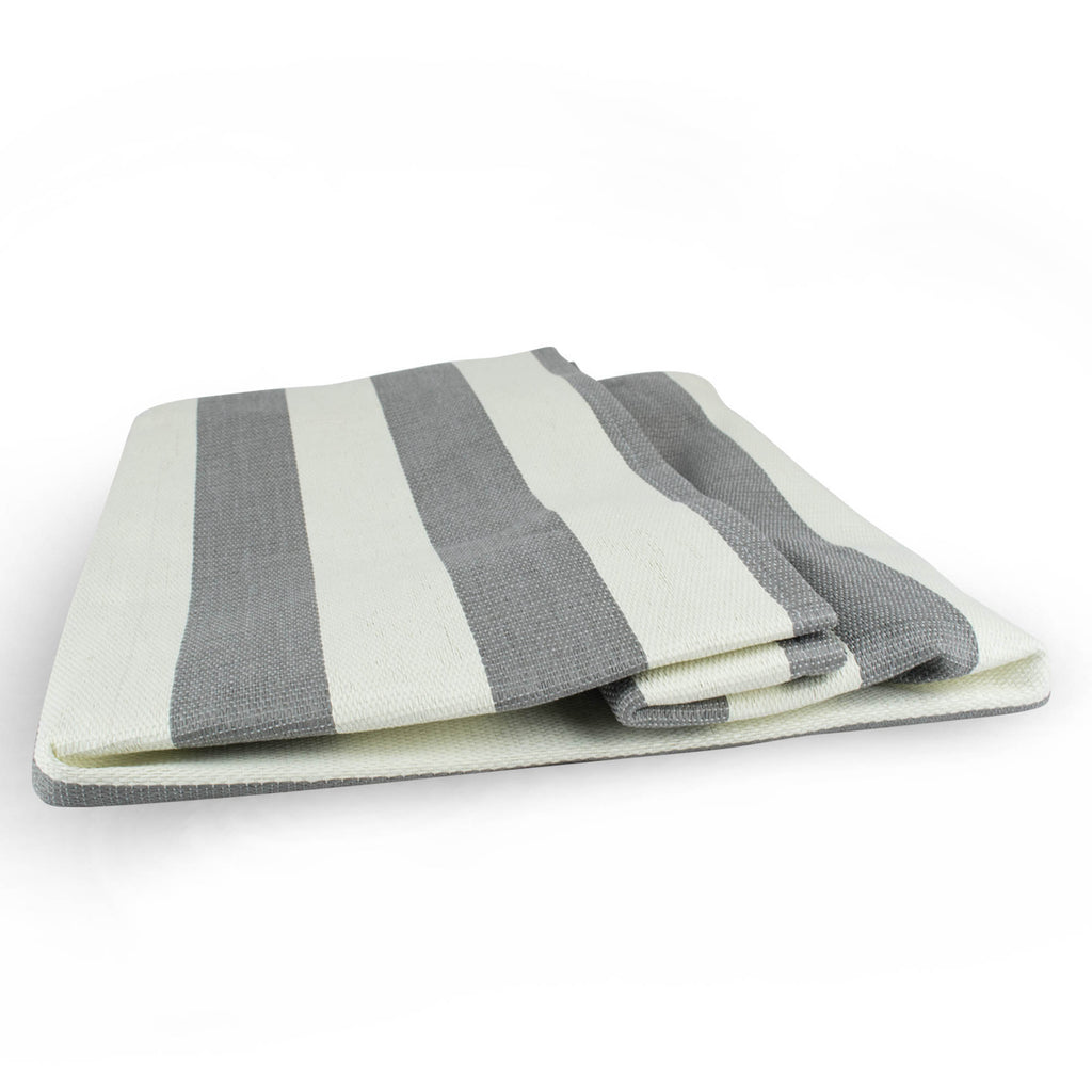 DII Paper Bin Stripe Gray Rectangle Large