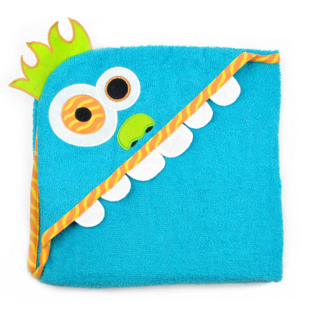 DII Kids Hooded Towel Blue Monster