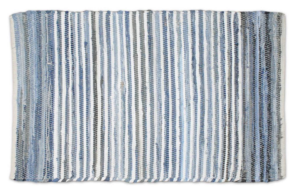 Multi Denim Rag Rug 2x3ft