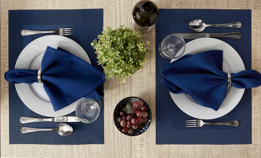 DII Nautical Blue Pvc Doubleframe Placemat (Set of 6)