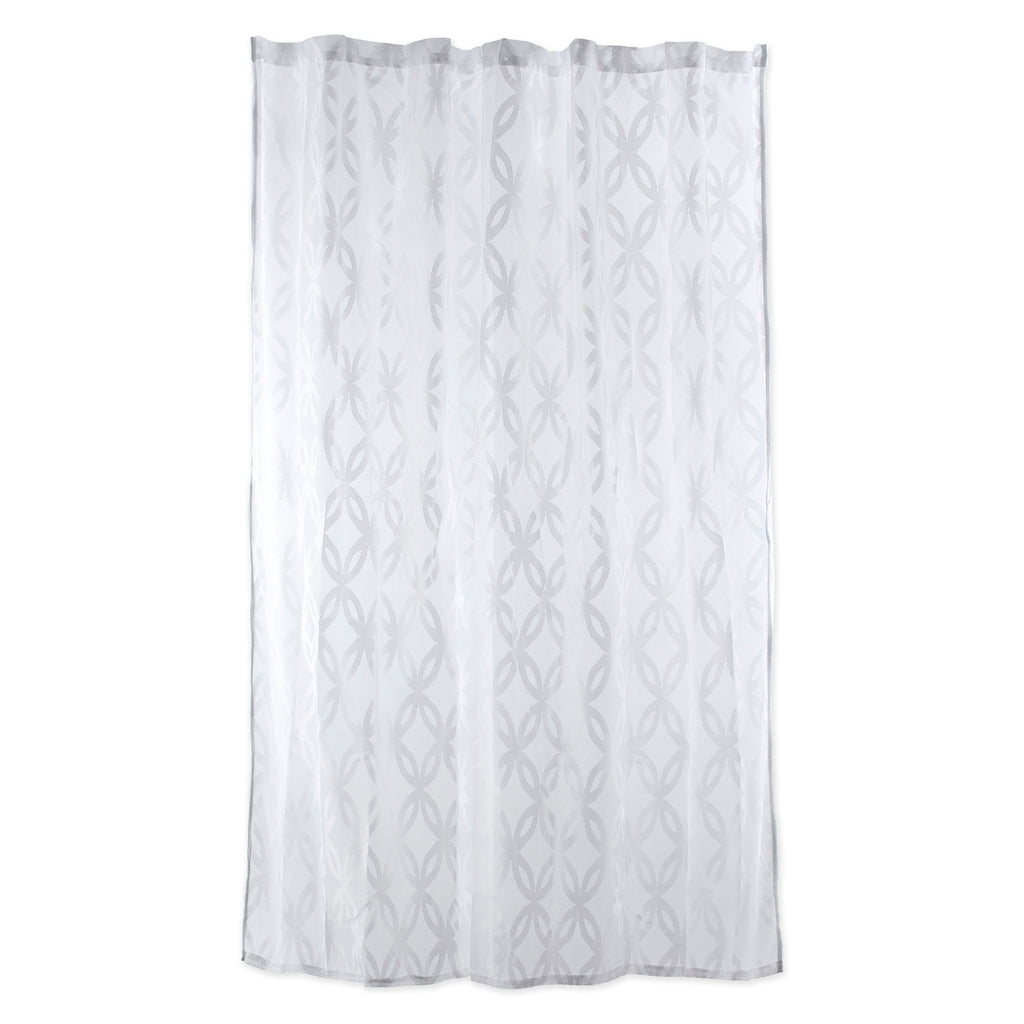 DII White Lace Lattice Shower Curtain