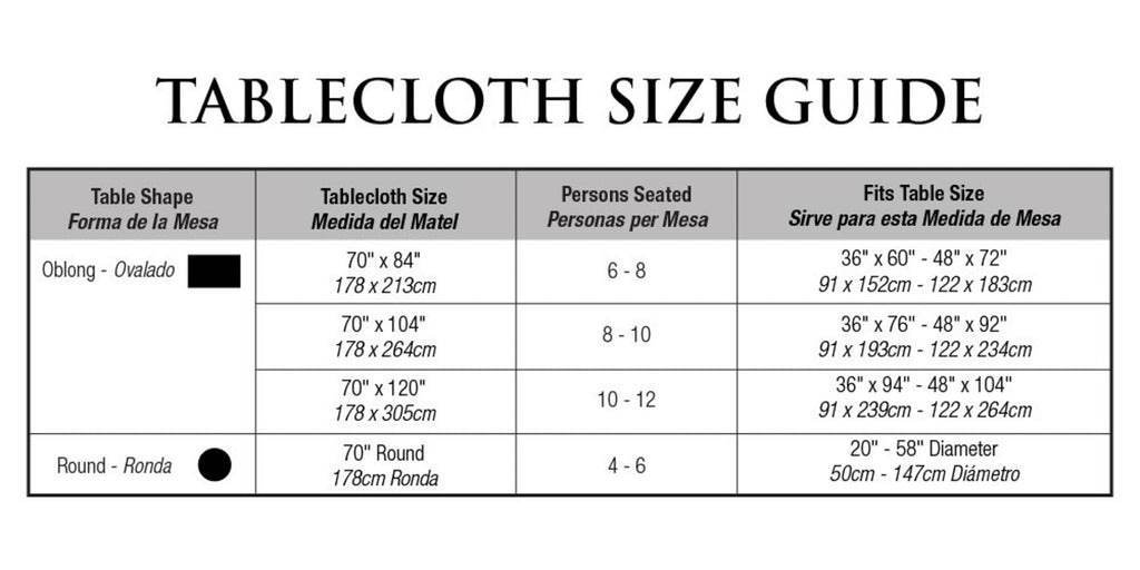 DII Tablecloth Poly Bead Brown, 70x104""