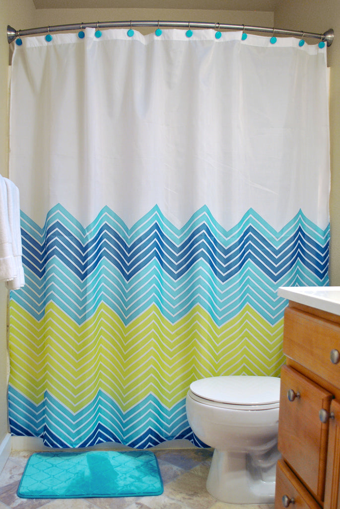 14pc Asst Bath Set Chevron Blue