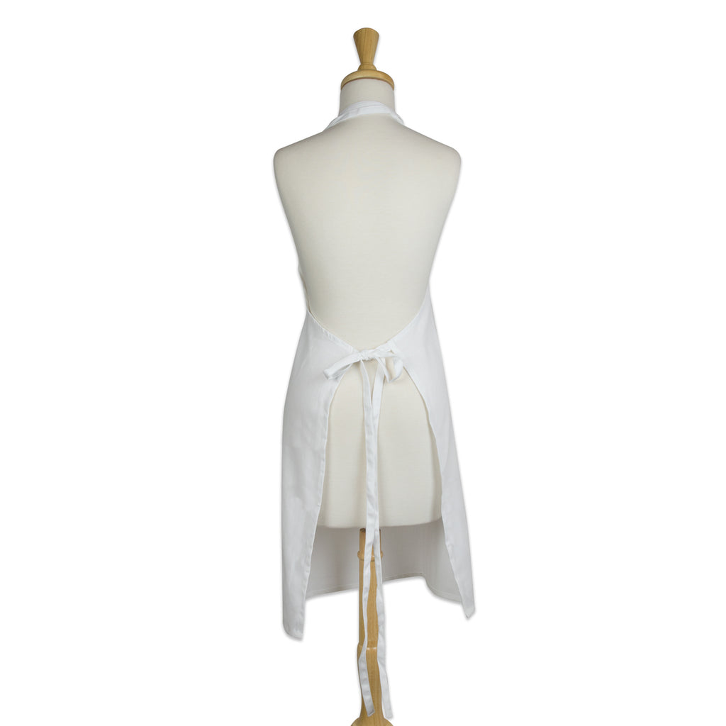 DII White Chino Chef Apron