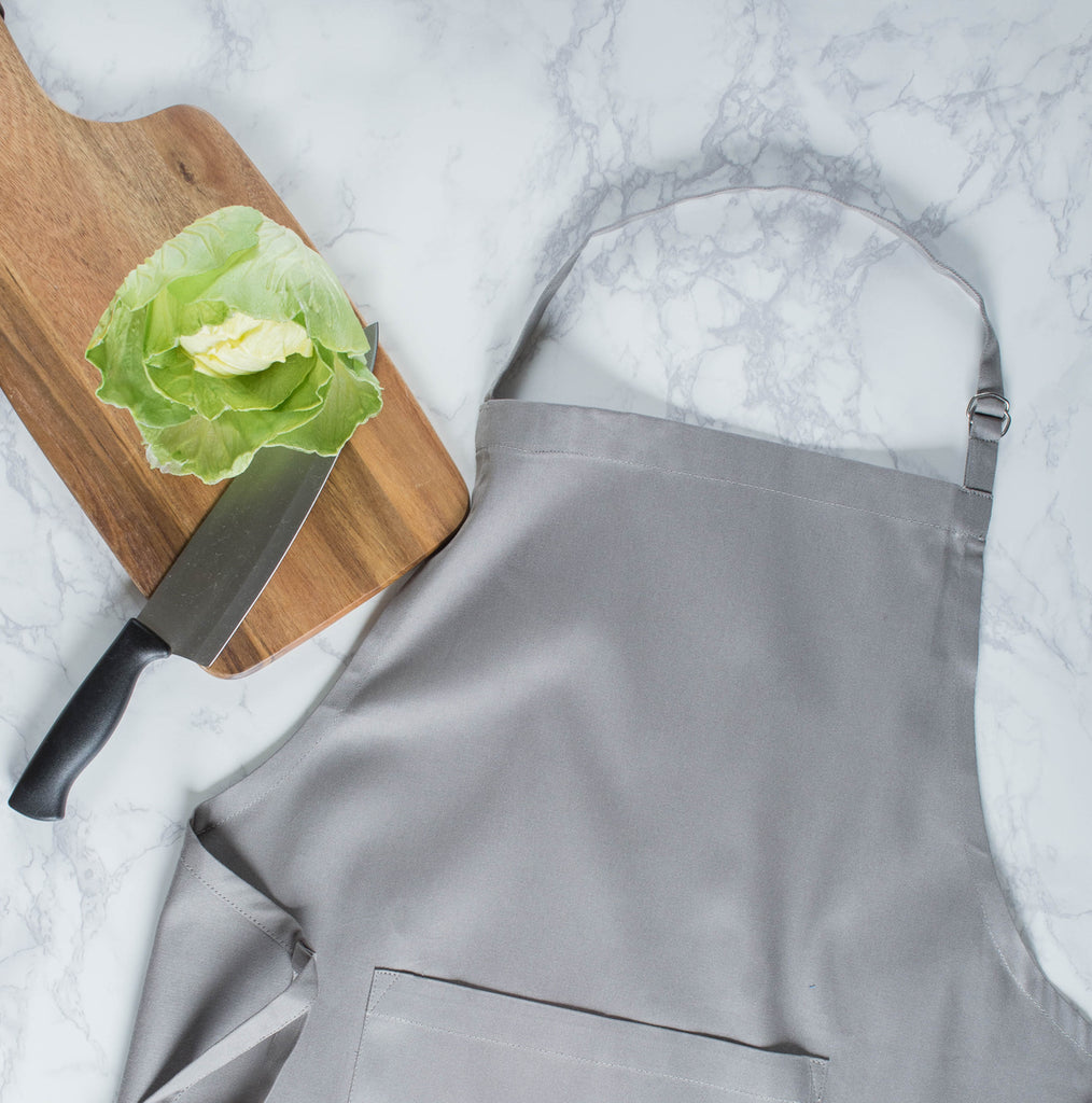 DII Gray Chino Chef Apron
