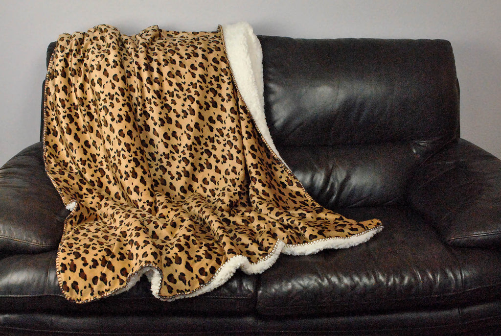 DII Sherpa Throw Leopard