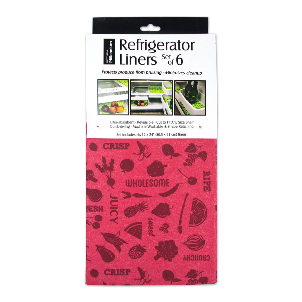 Red Veggies Fridge Liner Set/6