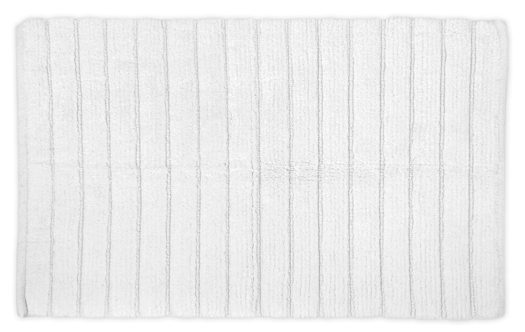 White Ribbed Rug 21x34