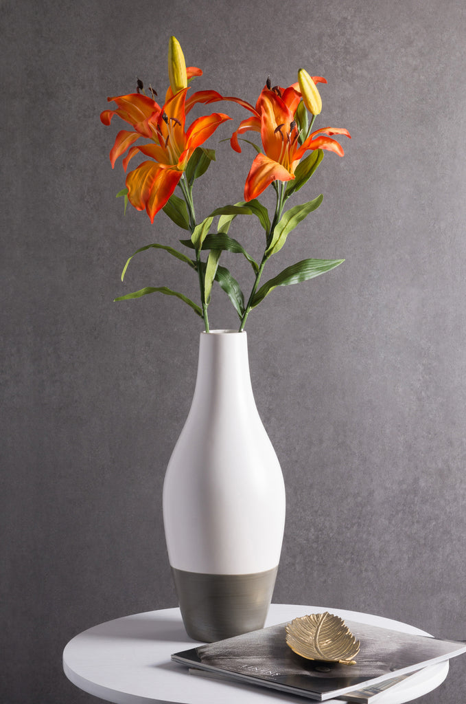DII Flower Tiger Lily Orange (Set of 4)