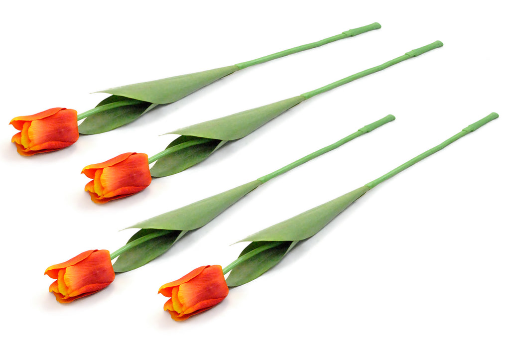 Flower Tulip Orange S/4
