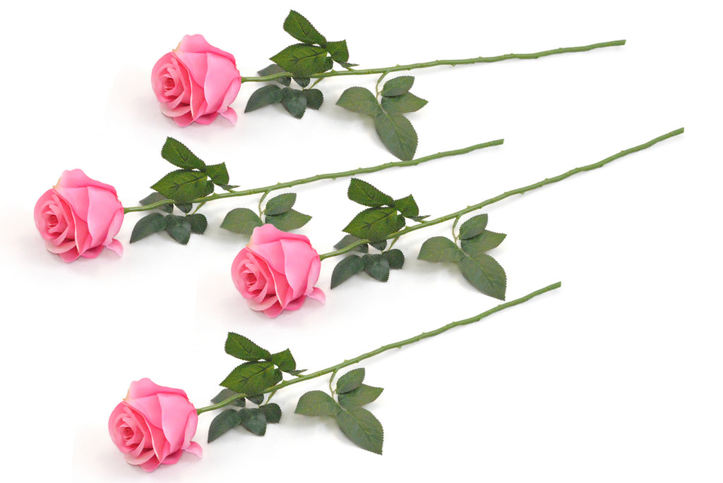Flower Closed Rose Light Pink S/4