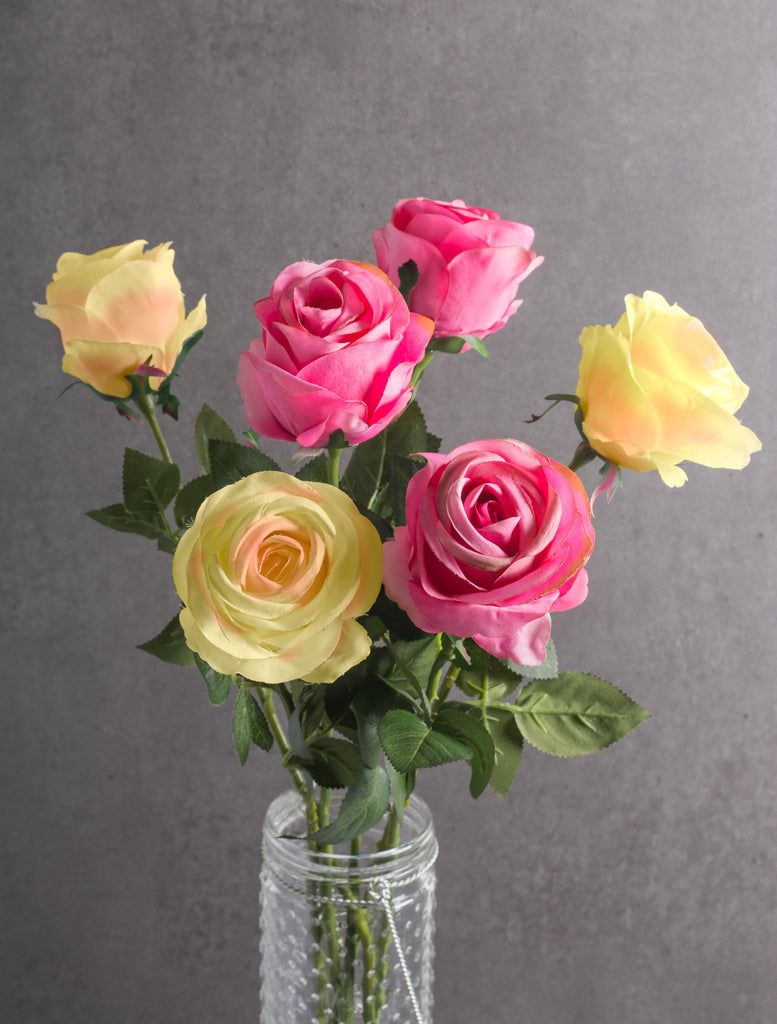 DII Flower Open Rose Pink (Set of 6)