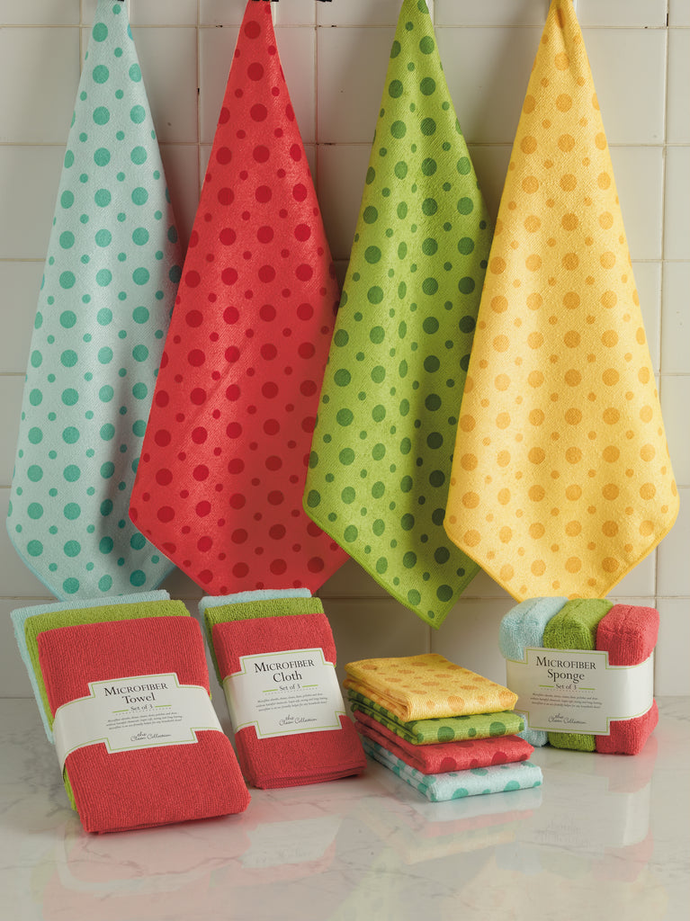 DII Lemon Ice Dot Microfiber Kitchen Towel (Set of 12)
