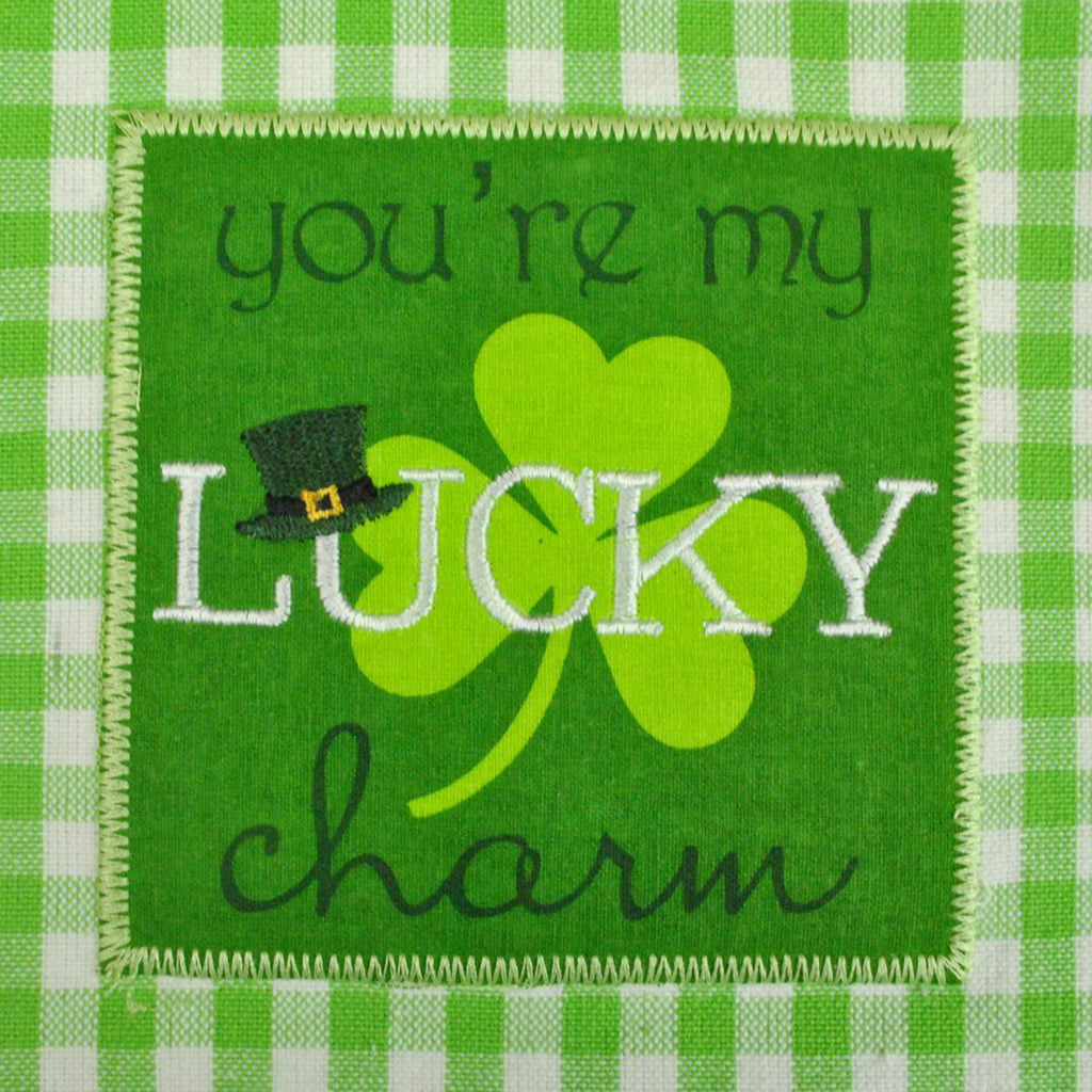 DII St Pattys Day Embroidered Dishtowel (Set of 3)
