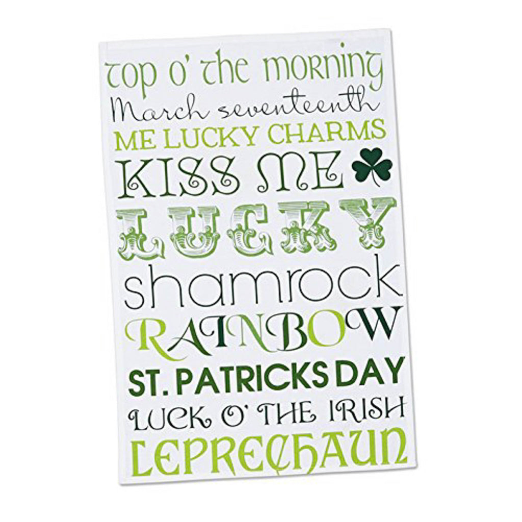 DII Assorted Green / White St Patrick Fts Day Printed Dishtowel (Set of 3)