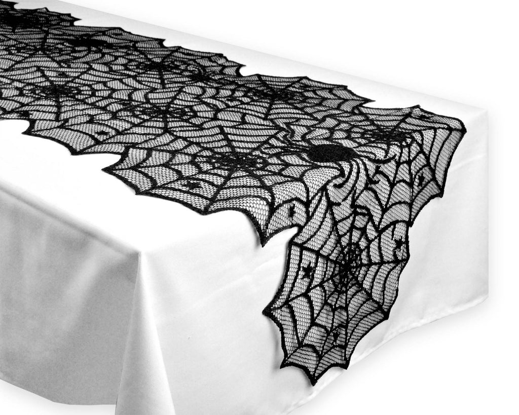 DII Halloween Lace Table Runner, 18x72""