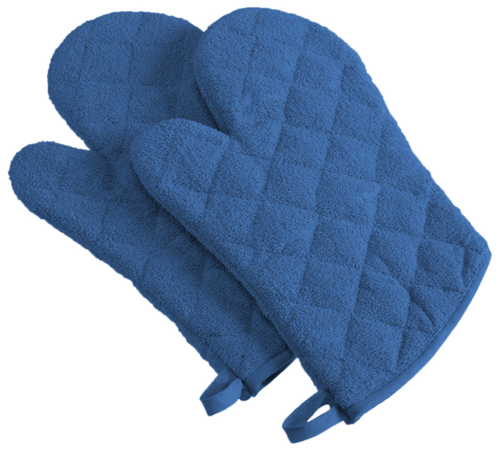 Blueberry Terry Oven Mitt Set/2