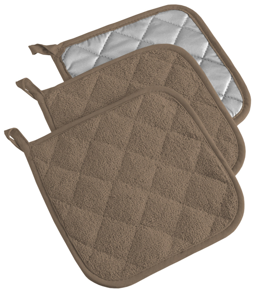 Brown Terry Potholder Set/3
