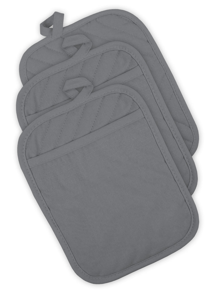 Gray Quilted Potholder Set/3