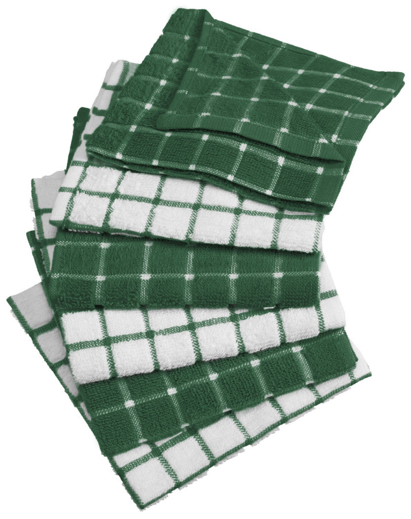 Spice Combo Windowpane Dishcloth Set/6
