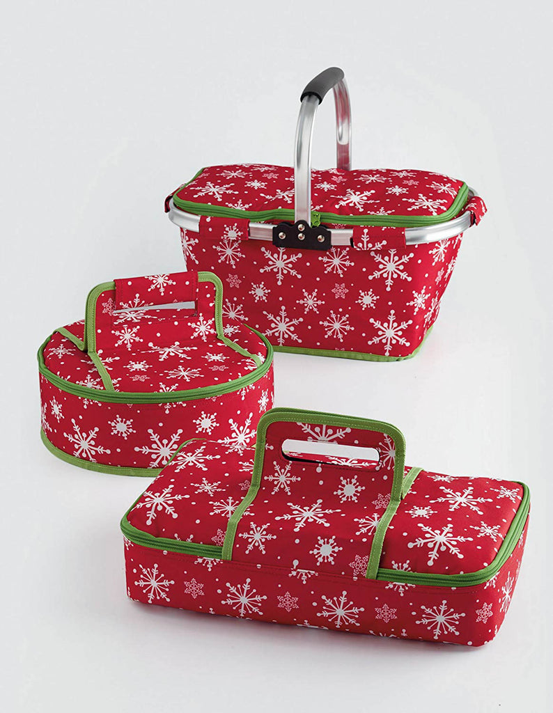 DII Insulated Tote Snowflakes