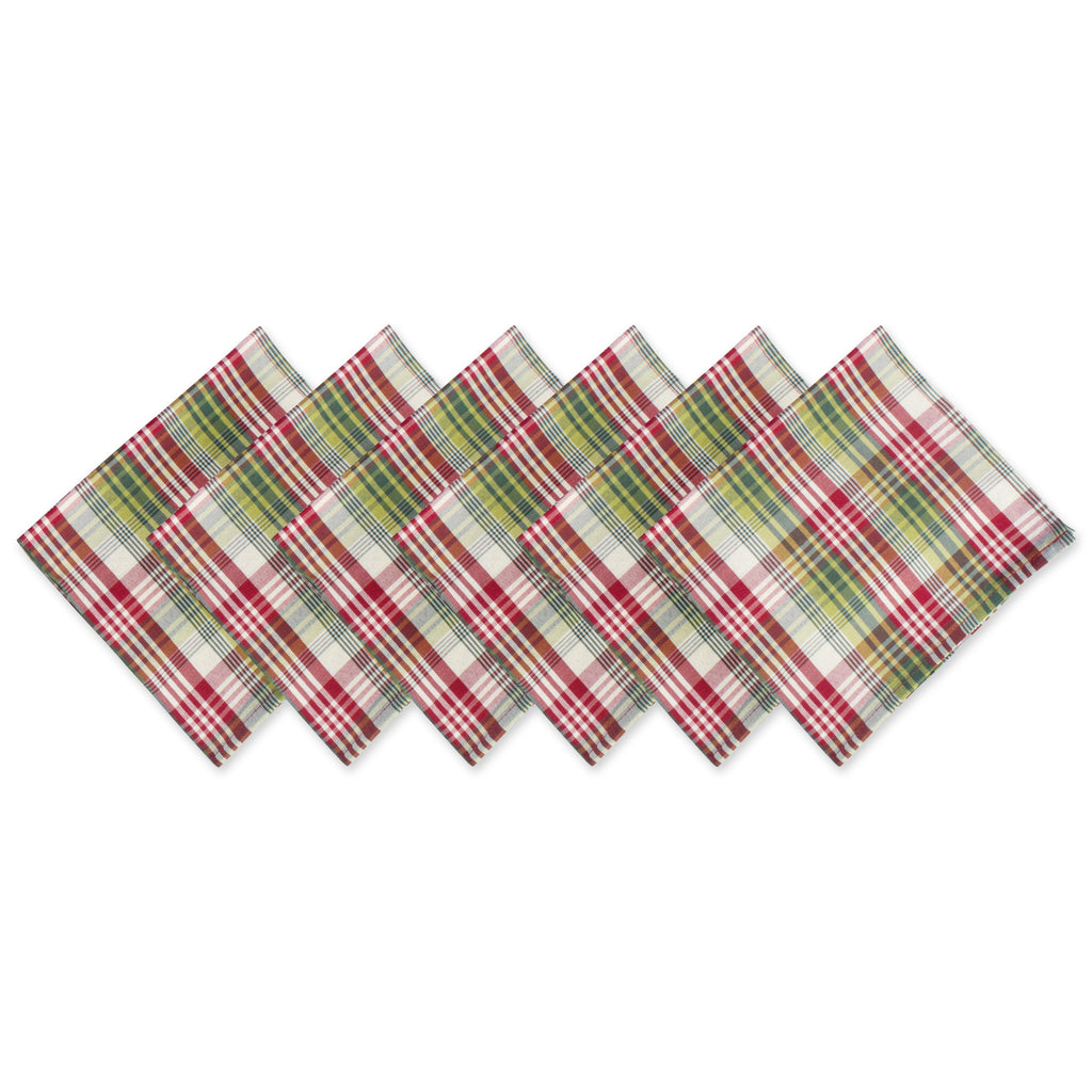 Holly Jolly Plaid Napkin Set/6