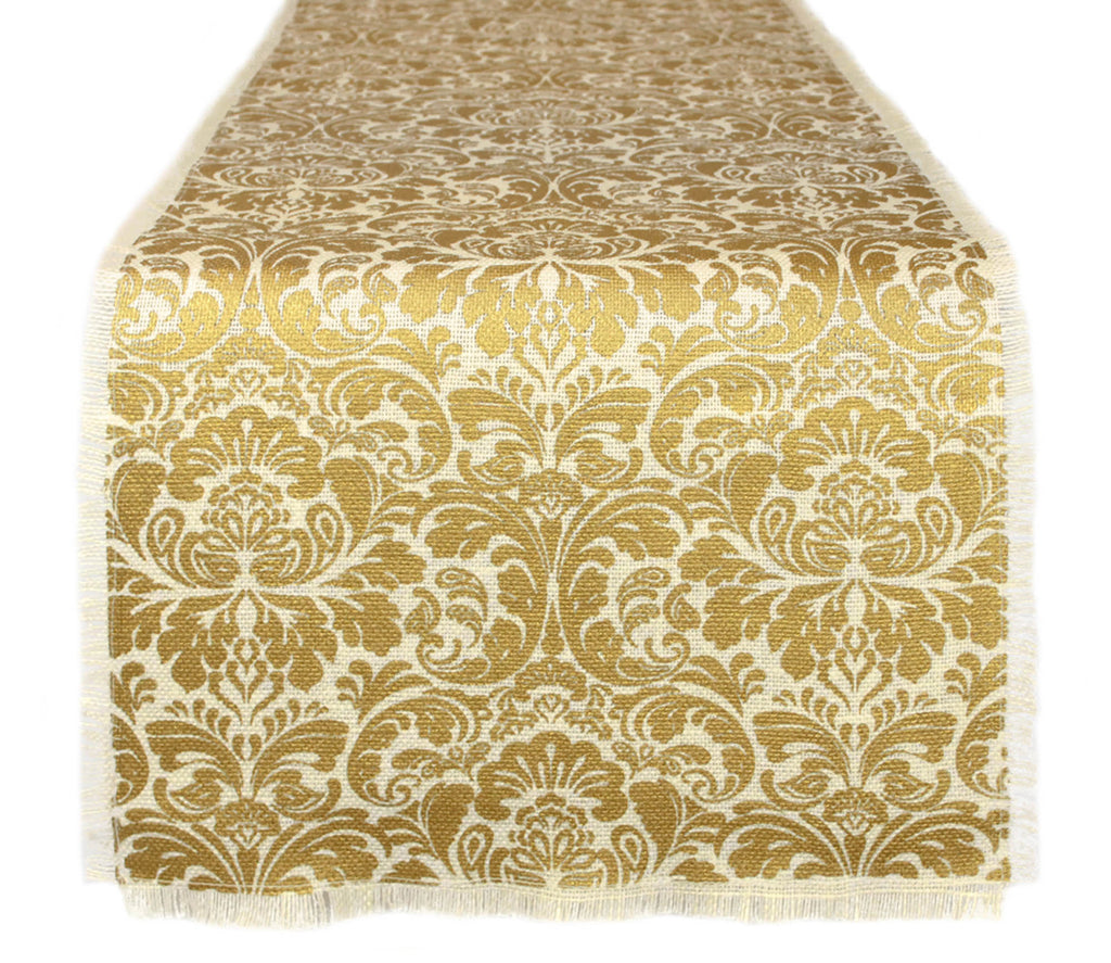 Table Runner Damask Print