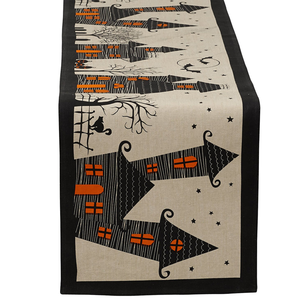 Haunted House Table Runner 14x72