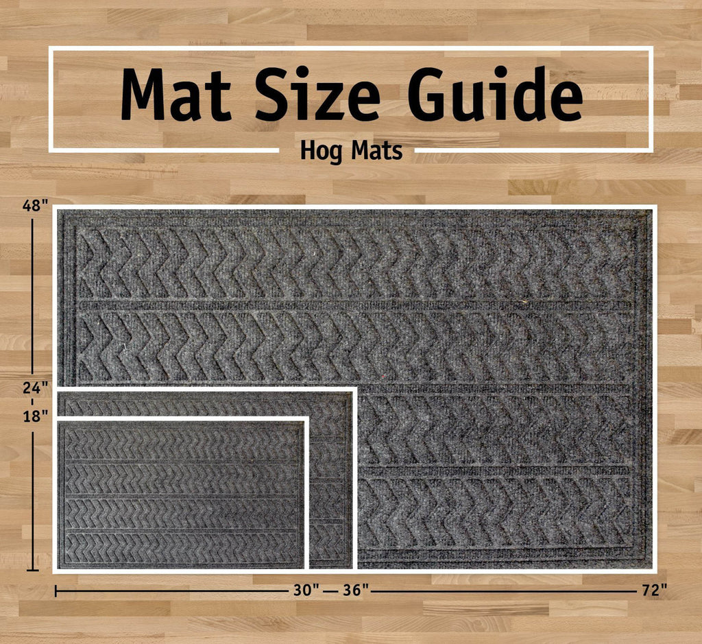 DII Dark Gray Chevron Hog Mat