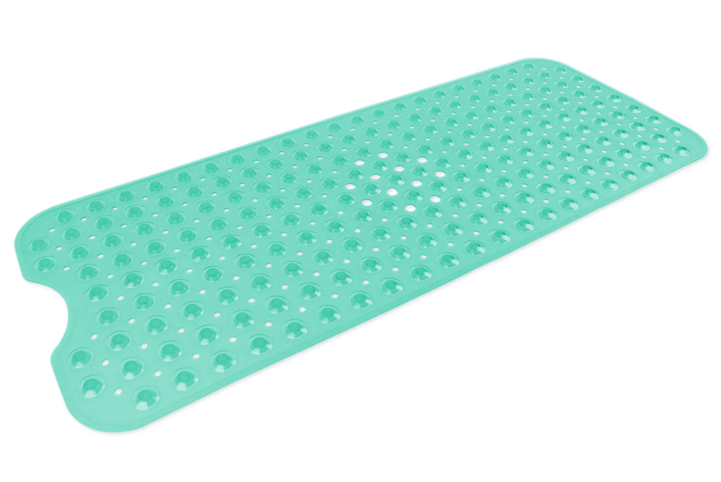 Vinyl Bath Mat Large Teal