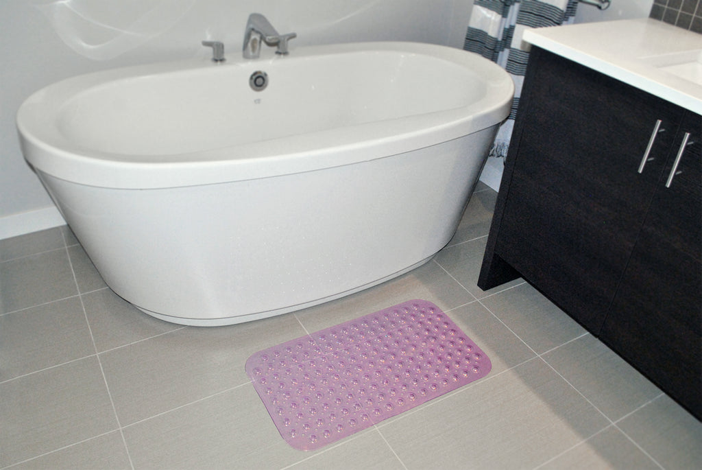 DII Vinyl Bath Mat Med Purple