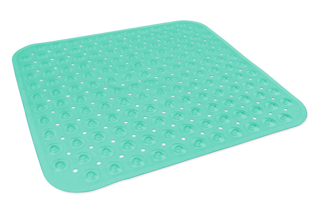 Vinyl Bath Mat Square Teal