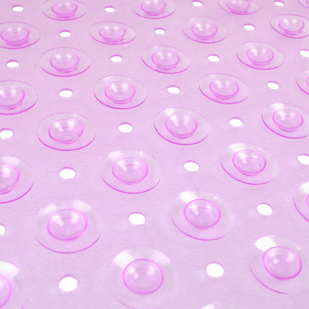 DII Vinyl Bath Mat Rounded Purple