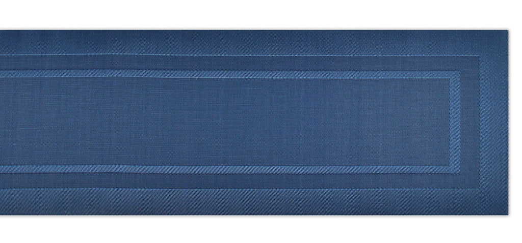 DII Nautical Blue Pvc Doubleframe Table Runner, 14x72""