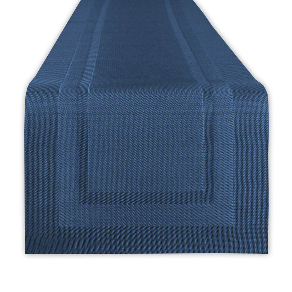 Nautical Blue Pvc Doubleframe Table Runner 14x72
