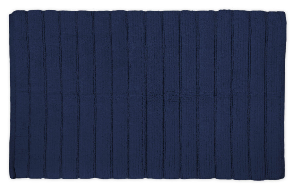 Navy Ribbed Rug 21x34