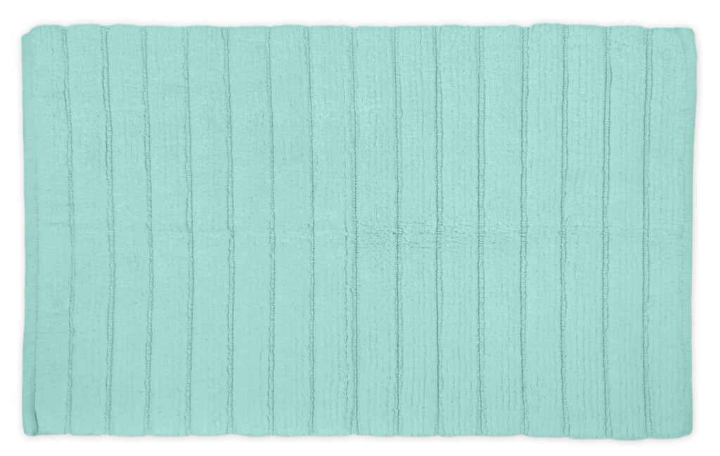 Mint Ribbed Rug 21x34